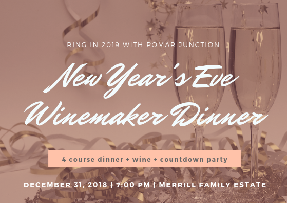 New Year's Eve Winemaker Dinner @ Merrill Family Wine Cellar