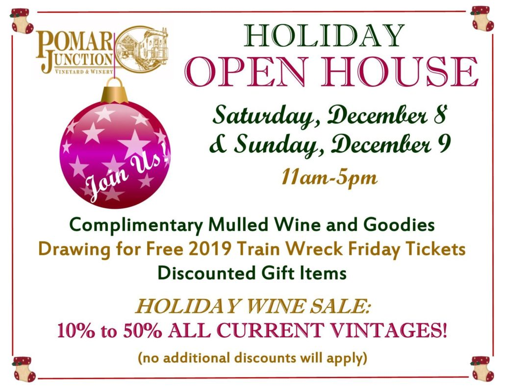 Holiday Open House @ Pomar Junction Tasting Room