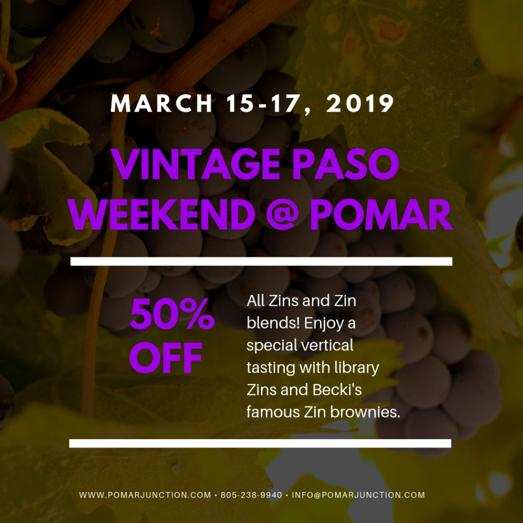 Vintage Paso Weekend @ Pomar Junction Tasting Room